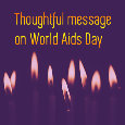 World Aids Day Candles
