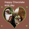 Happy Chocolate Mint Day Heart.