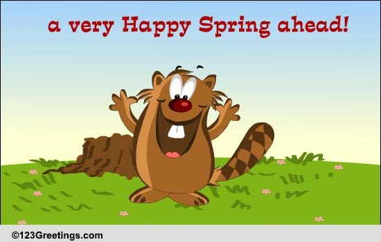 Send Groundhog Day's Greetings!