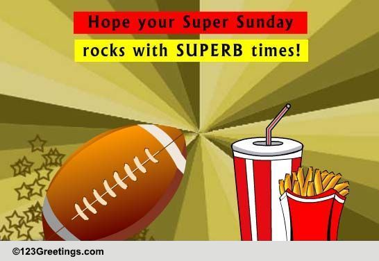 Send Super Sunday greetings!
