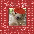 Send A Smile With A Cute Dog Valentine.