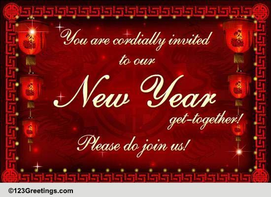 chinese new year invitations cards  free chinese new year