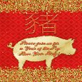 Year Of The Pig Party Invitation.