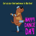 Doggy Dance Card.