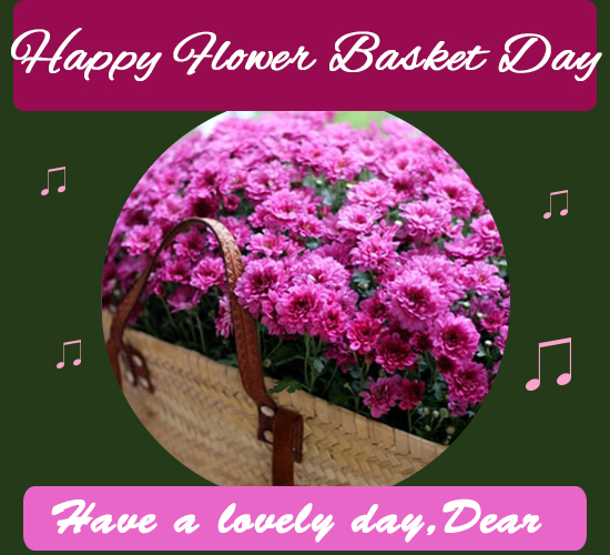 Happy Flower Basket Day, Pink.