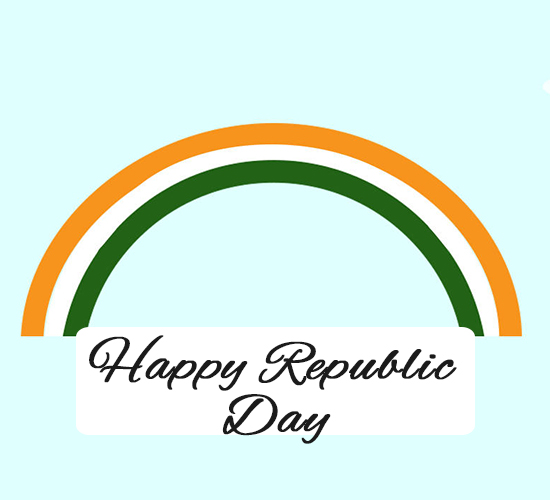 Happy Republic Day Flag.