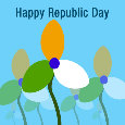 Happy Republic Day Flowers