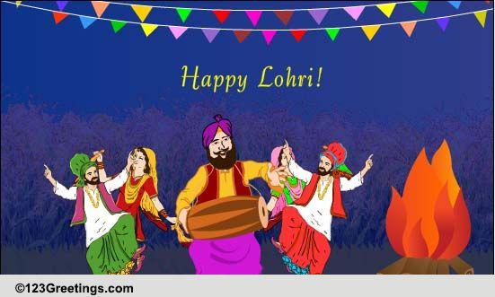 Lohri Cards Free Lohri Wishes Greeting Cards 123 Greetings