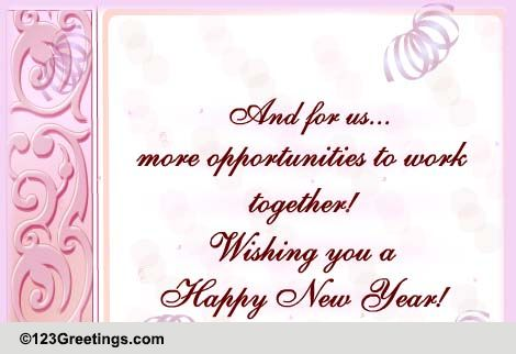 New Year Business Greetings Cards, Free New Year Business Greetings ...