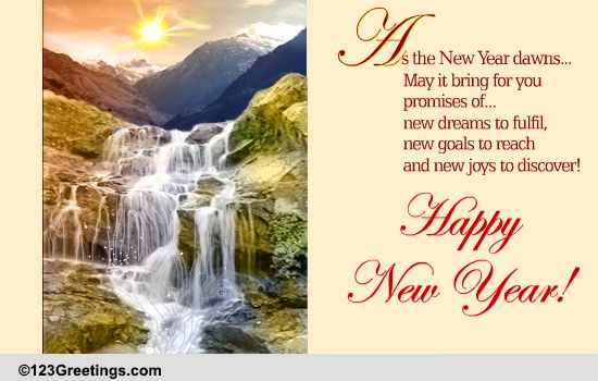 promises of new joys on new year