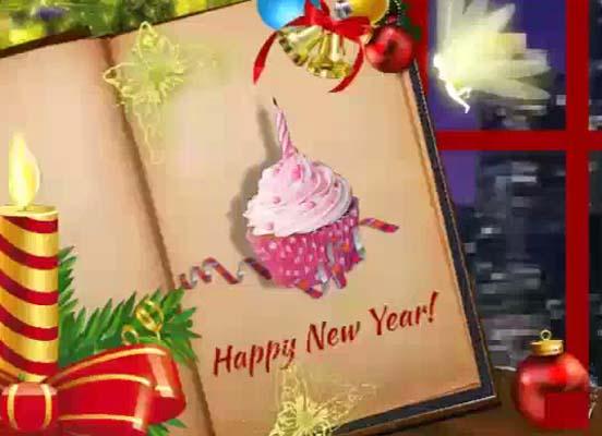 card magical new year