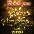 Golden New Year Thankyou Wishes