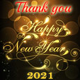 Golden New Year Thank You Wish.