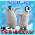A Cute Penguin Awareness Day Dance.