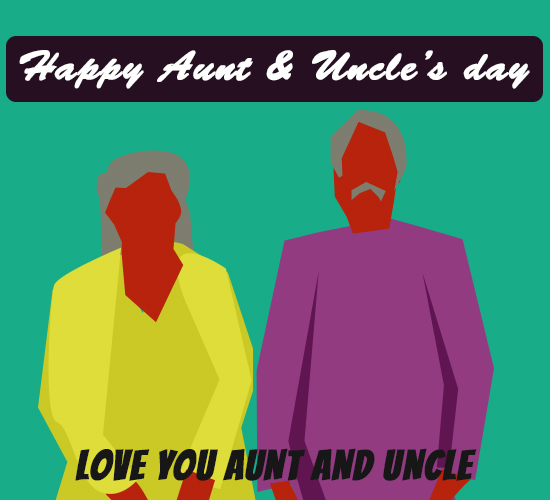 Happy Aunt And Uncle's Day...