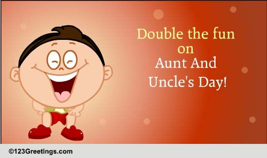 Send Aunt & Uncle's Day Ecard!