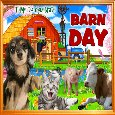 A Happy Barn Day Greetings.
