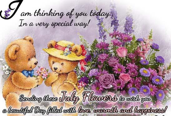 Send July Flowers Ecard!