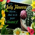 As The July Flowers Bloom...