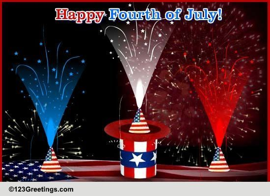 Born On The 4th Of July Cards 4th of July Fir...
