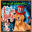 A Cute 4th Of July Card.