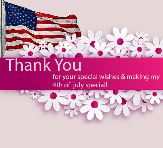 Thank You 4th of July With Flowers.