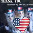 Thank You 4th of July With Cat.