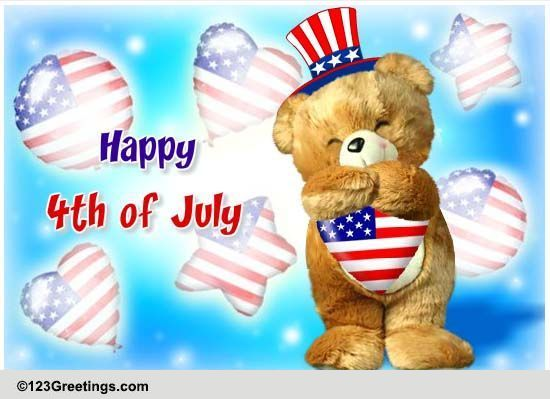 4th Of July Cards Free 4th Of July Wishes Greeting Cards 123