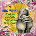 A Cute Hug Week Card.