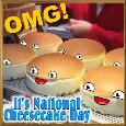 Omg! It's National Cheesecake Day.