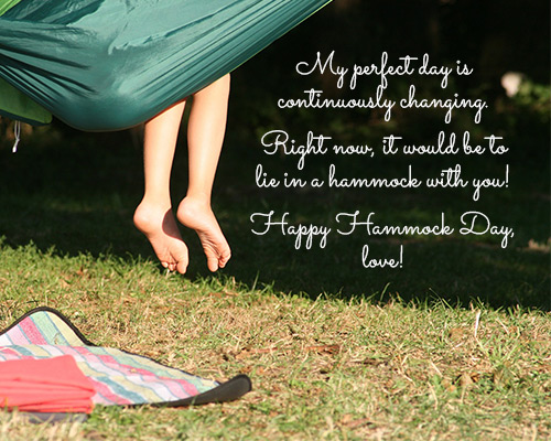 Happy Hammock Day, Love!