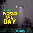 My World UFO Day Card.