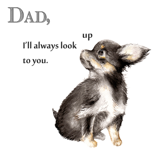 Father's Day Chihuahua. Free Happy Father's Day ECards