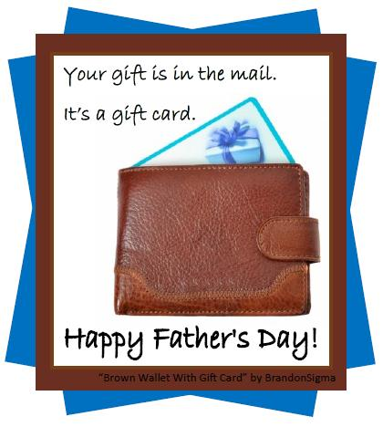 Father's Day Gift Card.