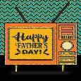 Retro Television Happy Father's Day.