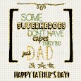 Happy Father's Day Superhero Word...