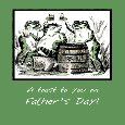 Father's Day Funny Frogs Toasting.