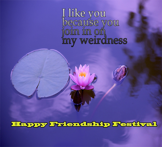 Lotus Friendship Day Wishes.