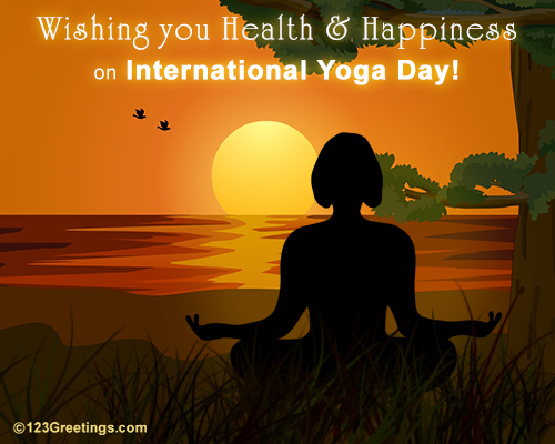 Health & Happiness On Intl. Yoga Day!