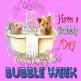My Cute Bubble Week Card.