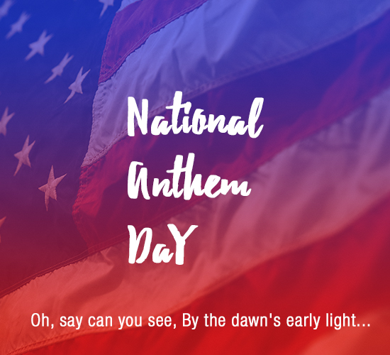 National Anthem Day, US!!