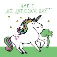 Unicorn St. Patrick's Day Wishes