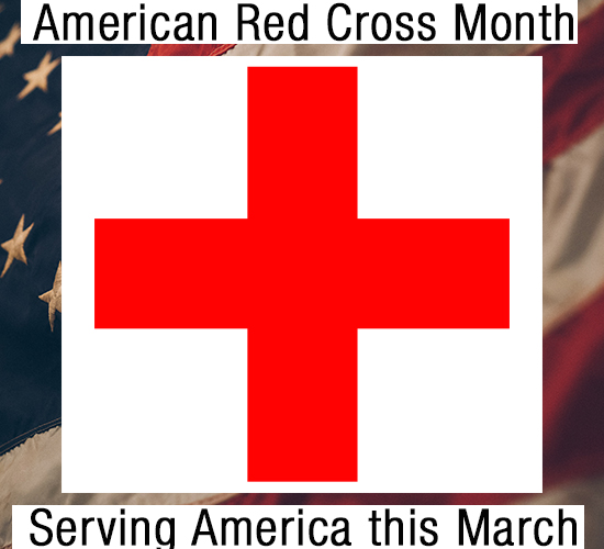 American Red Cross Month, Flag!