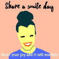 Share A Smile Day, Woman...