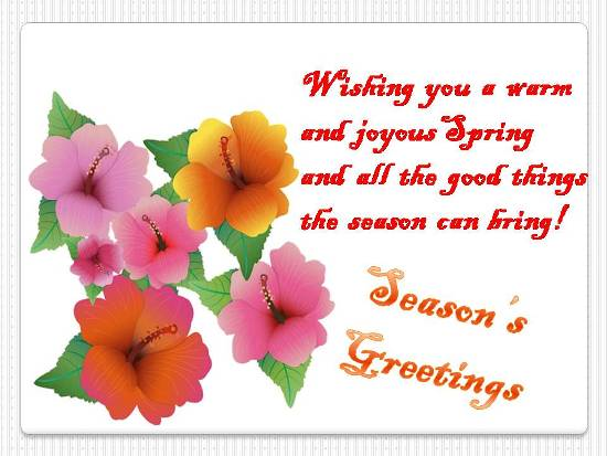Cheerful  Greetings For Loved Ones.
