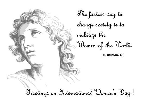 Warm Greetings On Women's Day.