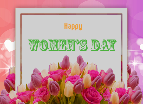 Women's Day Wishes With Flowers.