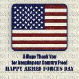 Armed Forces Day Thank You.