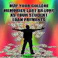Funny Student Loans Card.