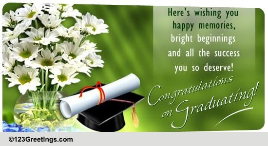 Graduation cards free graduation wishes greeting cards 123 greetings m4hsunfo